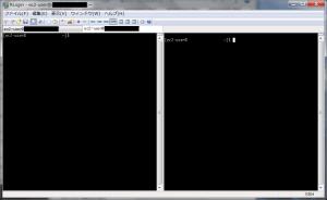 RLogin 接続の複製+画面を横に分割