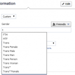 Facebook profile(Gender)
