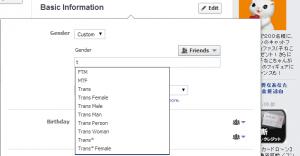Facebook profile(Gender)