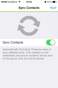 Threema Sync Contacts
