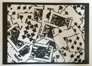 トランプの写真の切り絵(旧バージョン)