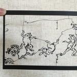 鳥獣戯画の切り絵