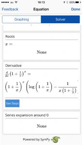 Mathpixによる微分計算結果