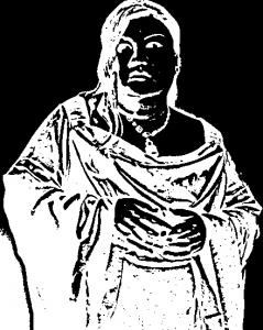 マツコ・デラックスの切り絵の中間ファイルの反転