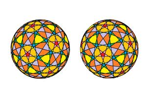 セパタクローのような編みボール(30本)色分け