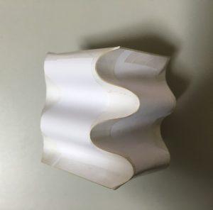 サインカーブで折った箱(1)