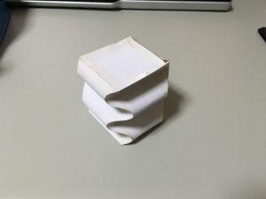 サインカーブで折った箱(2)