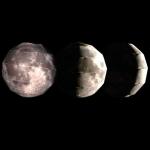 月の満ち欠けのシミュレーション