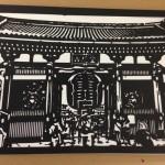 浅草 雷門の切り絵