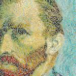 ゴッホの自画像の拡大